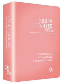 Bíblia Gigante Mais - Rosa, Editora Central Gospel