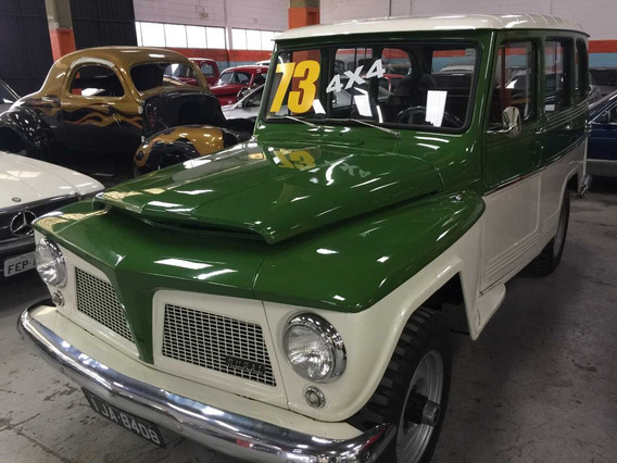 Willys Rural - 1973 - Verde - 4 X 4 - Impecável