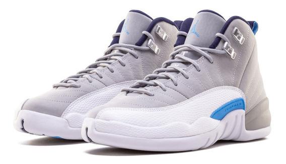 Air Jordan Retro 12 Grey University Blue (gs)