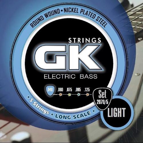 Imagen 1 de 3 de Encordado Para Bajo Electrico Gk 040 2070/5 - 5 Cuerdas