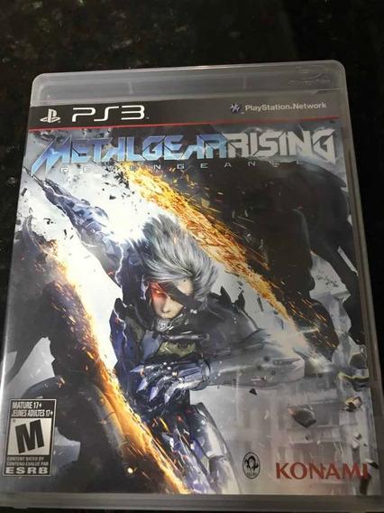 Jogo Ps3 Metal Gear Rising Original Mídia Física