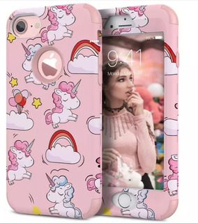 Case, Carcasa, Funda, Rosa, Unicornio, iPhone