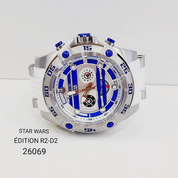Relógio Invicta 26069 Prata R2d2 Branco Azul - Star Wars