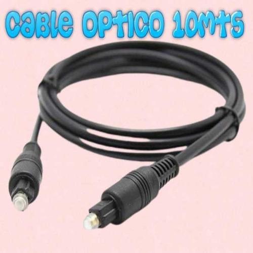 Cable Optico Para Audio Digital De  10 Mts