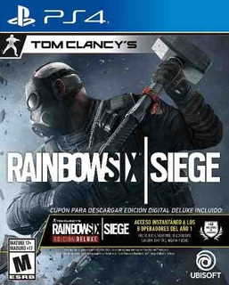Juego Ps4 Rainbow Six Siege Deluxe Edition