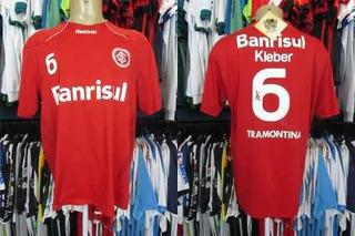 Internacional 2010 Camisa Titular Tamanho G Número 6 Kléber.