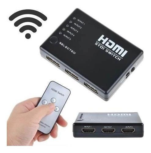 Imagen 1 de 4 de Switch Hdmi Selector 5 Puertos