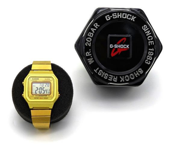 Relógio Digital Vintage - B650w- V-w6666 Dourado