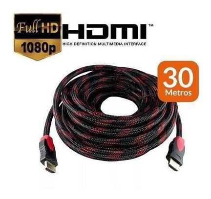 Cabo Hdmi Gamer Premium 30mts Full Hd 1080p 1.4 Blindado