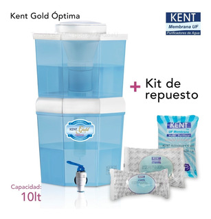 Kit Purificador De Agua Kent Gold Optima 10lt + Kit Repuesto