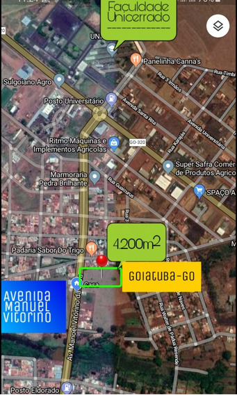 Área, Lote, Terreno: De Frente Pra Avenida - Goiatuba Go