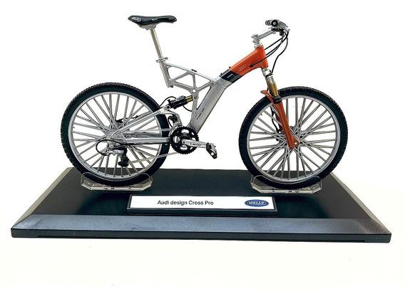 Miniatura Bicicleta Audi Design Cros Pro Metal 1 10 Ciclista