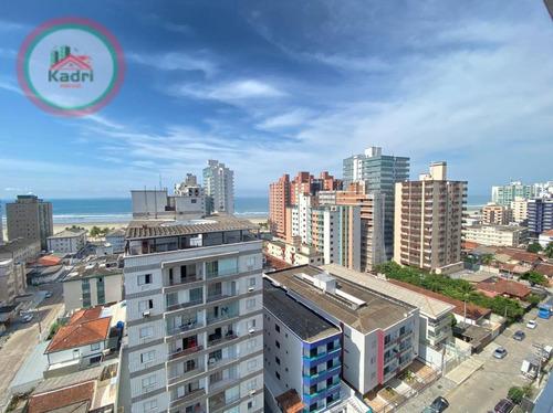 Apartamento Com 2 Dormitórios À Venda, 85 M² Por R$ 460.000,00 - Vila Guilhermina - Praia Grande/sp - Ap5449