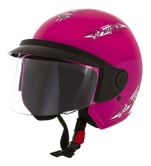 Capacete Feminino Aberto Moto Mixs Up For Girls 56 Rosa