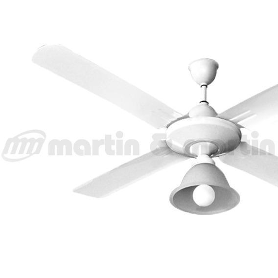 Ventilador Techo Martin & Martin Airplane Metal Bco Luz Cape
