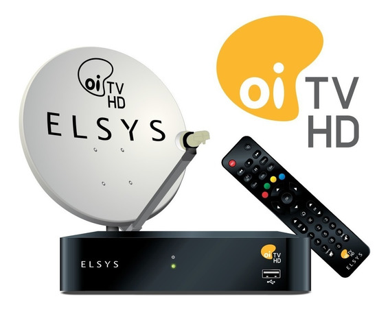 Receptor Oi Tv Livre Hd Etrs 37 Antena 60 17m Cabos