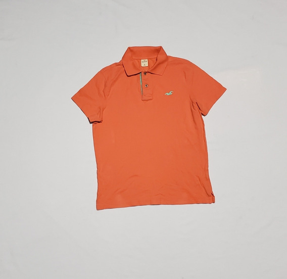Playera Polo Hollister Mediana Naranja