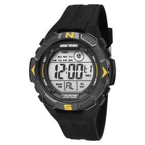Relógio Mormaii Mo29088y Preto/amarelo