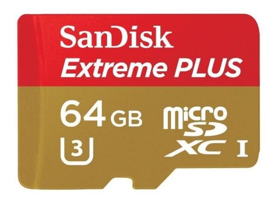 Cartão Memória 64gb Microsd Extreme Sandisk Gopro Hero 7