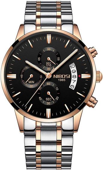 Reloj Pulsera Nibosi 2309 De Lujo Para Hombre
