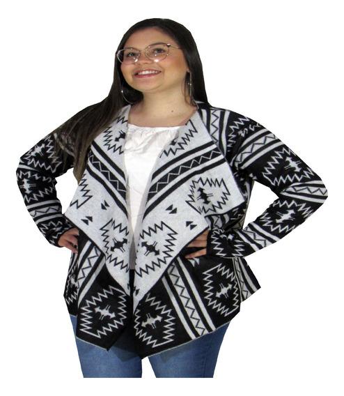 Blusa De Frio Feminina Moda Evangélica Kimono Étnico De Frio