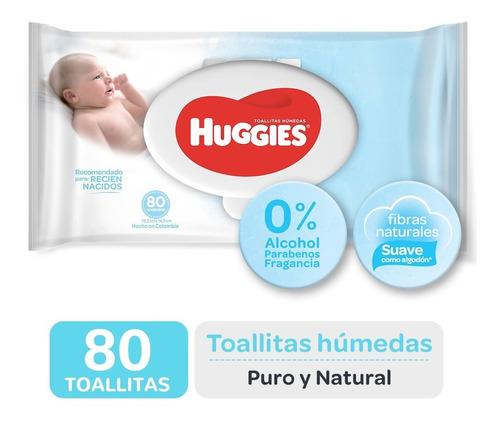 Toallas Húmedas Huggies Puro Y Natural X 80