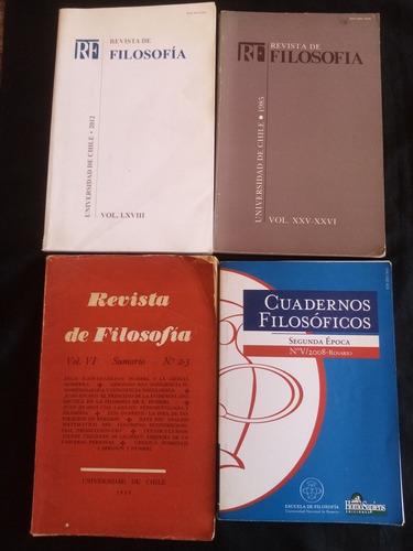 Colección 4 Revis De Filosofía. 3 U. De Chile Y U. Rosario