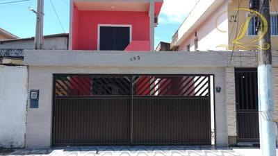 Sobrado De 3 Quartos À Venda Em São Vicente, Aceita Financiamento Bancário, 02 Vagas E 3 Banheiros!!! - So0041