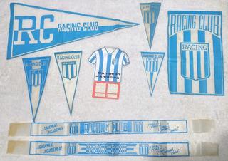 Coleccion Banderas Vinchas Banderines Racing Club Rac 03