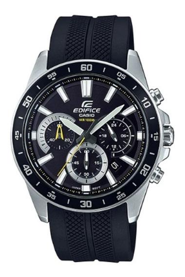 Relógio Casio Masculino Edifice Silicone Preto Cronografo