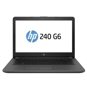 Notebook Hp 240 G6 I5-7200u 8gb W10 Pro 64 Intel Core Preto