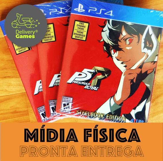 Persona 5 Royal Steelbook Edition Ps4 Mídia Física Lacrado
