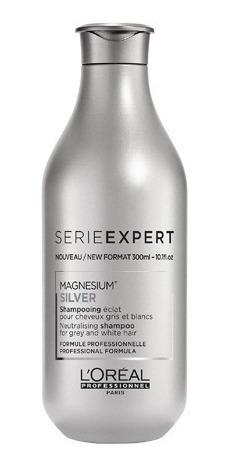 Shampoo Loreal Silver Para Cabellos Grises Y Blancos 300 Ml