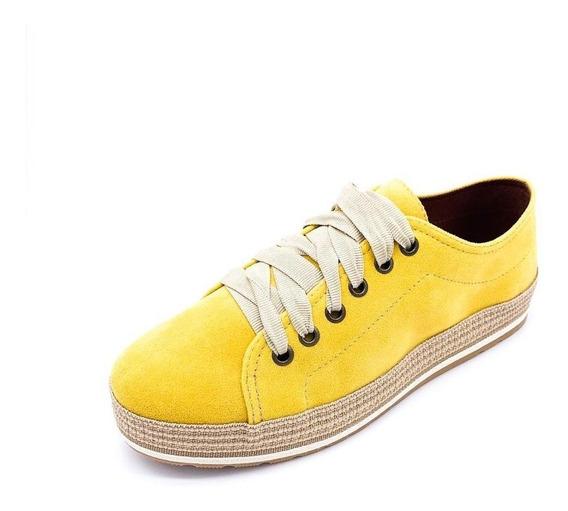 Tênis Redsun Camurça Amarelo