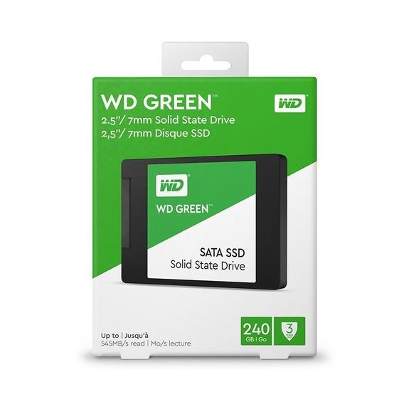 Ssd Wd 240gb Western Digital Green Sata3 2.5 7mm Wds240g2g0a
