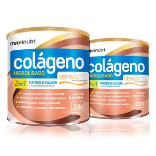 Combo 2x Colágeno Hidrolisado 2 Em 1 Verisol 250g -maxinutri