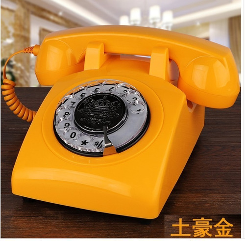 Teléfono De Oficina De Marcado Rotativo Antiguo