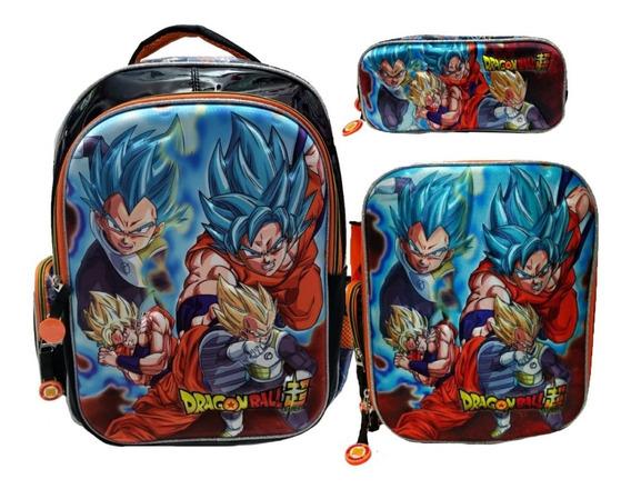Kit Escolar Primaria Dragon Ball . Mochila Lapicera Lonchera