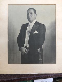 Foto Lámina Gral. Juan D. Perón Original 64 X 55 Cm