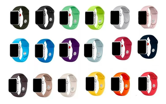 Pulseira Para Apple Watch 38mm 40mm 42mm 44mm Sport