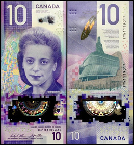 Canada P-new Fe 10 Dollars 2018 Polímero Comemorativa* C O L