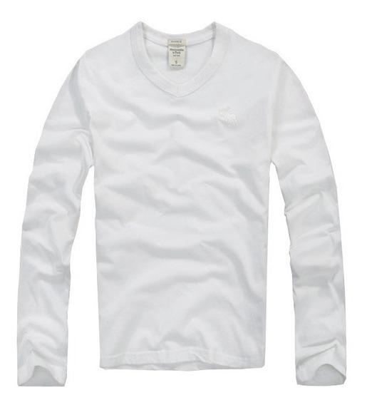 Blusa Abercrombie Masculina Original Importada Branco P21
