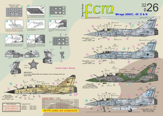Decal Mirage 2000 Fcm 1/32 Decalque Brasil França
