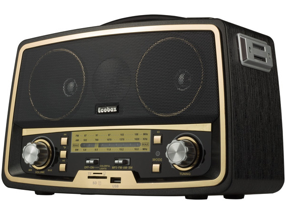 Radio Am Fm Usb Antigo Classico Vintage Retro Com Bluetooth