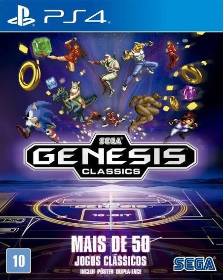 Sega Genesis Ps4 - 50 Jogos Em 1- Envio Imediato