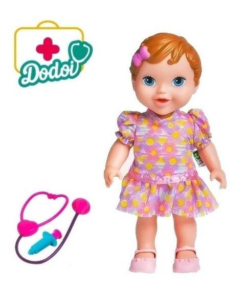 Boneca Bebe Baby Dodoi Morena My Little Alive - Super Toys