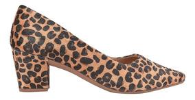Sapato Scarpin Feminino Salto Grosso Alto Bico Fino Festa