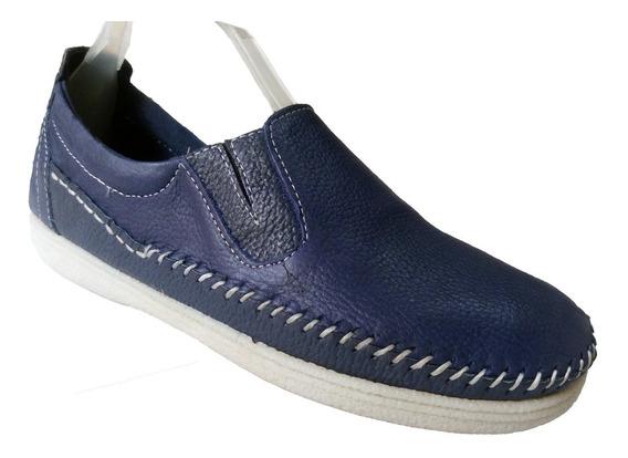 Zapatos Hombre De Cuero Tubular - Mocasin Free Lance®