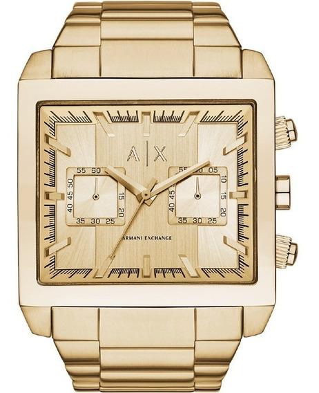 Relógio Masculino Armani Exchange Quadrado Dourado - Lindo!
