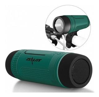 Parlante Portátil Bluetooth Linterna Powerbank Ideal Camping